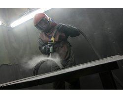 Śrutowanie stali - zdjęcie