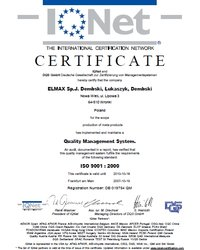 Certyfikat ISO 9001:2000 - zdjęcie