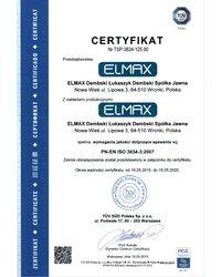 Certyfikat PN-EN ISO 3834-3:2007 - zdjęcie