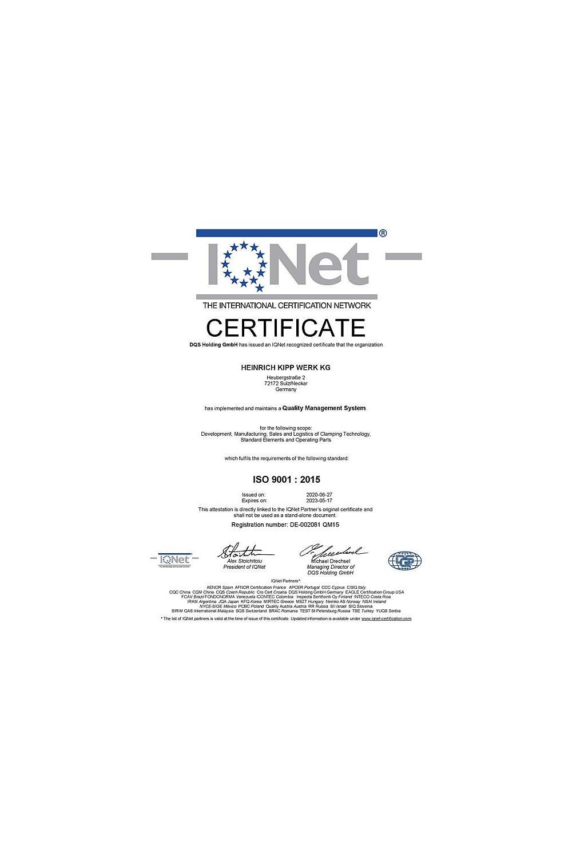 Certyfikat ISO 9001:2015 - zdjęcie
