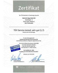Certyfikat TÜV - zdjęcie