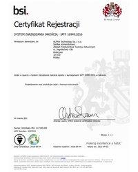 System Zarządzania Jakością IATF 16949:2016 - zdjęcie