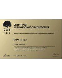 Certyfikat Wiarygodności Biznesowej  2015 - zdjęcie