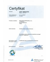 Certyfikat IARF 16949:2016 - zdjęcie