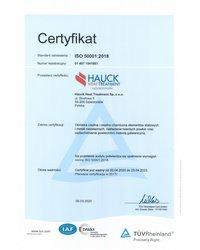 Certyfikat ISO 50001:2018 - zdjęcie