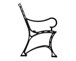 Noga żeliwna do ławki królewskiej z podłokietnikiem - zdjęcie