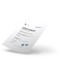 Certyfikat jakości ISO 9001 - zdjęcie