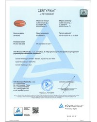 Certyfikat TÜV Rheinland PN-EN 1886:2008; PN-EN 13053+A1:2011 - zdjęcie