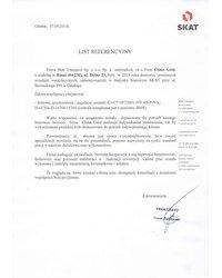 List Referencyjny - SKAT - zdjęcie