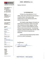 List Referencyjny - KOSS - SERVICE - zdjęcie