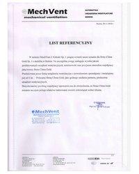 List Referencje - MechVent - zdjęcie