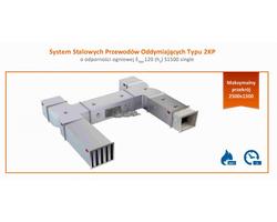 System stalowych jednostrefowych przewodów oddymiających typu 2KP  o odporności ogniowej E600 120 (ho) S1500 single - zdjęcie