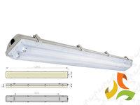 Lampa przemysłowa hermetyczna 2x36W - oprawa hermetyczna HELIOS 236 - zdjęcie