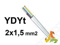 Przewód YDYt 2x1,5mm2 (TYNKOWY) / 100mb - zdjęcie