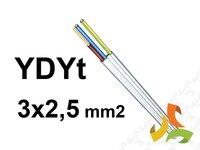 PRZEWÓD YDYt 3x2,5mm2 (TYNKOWY) / 100mb - zdjęcie