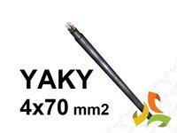 Przewód kabel YAKY 4x70mm2 SE ziemny aluminiowy sektorowy - zdjęcie