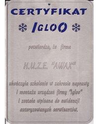 Certyfikat IGLOO - zdjęcie