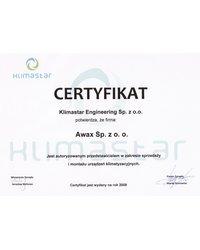 Certyfikat Klimastar Engineering - zdjęcie