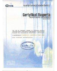 Certyfikat Eksperta - Krajowa Izba Gospodarcza Chłodnictwa i Klimatyzacji - zdjęcie