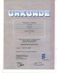 URKUNDE - Potwierdzenie uczestnictwa w szkoleniu - zdjęcie