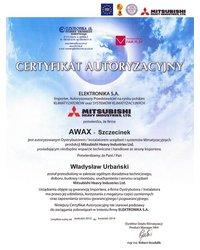 Certyfikat Autoryzacyjny ELEKTRONIKA S.A. - zdjęcie