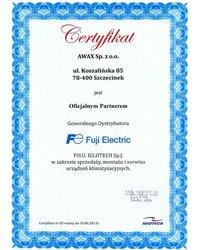 Certyfikat IGLOTECH Sp. J. - zdjęcie