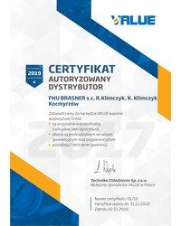 Certyfikat: Autoryzowany dystrybutor VALUE - zdjęcie