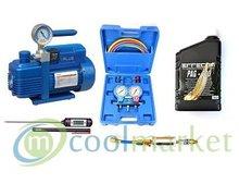 Zestaw do napełniania i serwisowania klimatyzacji samochodowej - zdjęcie