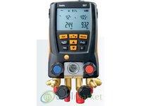 Elektroniczna oprawa zaworowa Testo 557 BLUETOOTH, manometry elektroniczne do chłodnictwa i klimatyzacji - zdjęcie