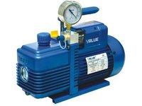 Pompa próżniowa VALUE V-i220SV dwustopniowa z elektrozaworem i wakuometrem - zdjęcie