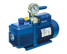 Pompa próżniowa VALUE V-i260SV 142 l./min dwustopniowa z elektrozaworem i wakuometrem - zdjęcie