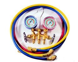 Zestaw manometrów MASTERCOOL r507/R407/R404/R22/R134 i z wężami 90cm - zdjęcie