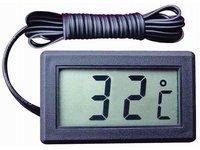 Termometr cyfrowy, elektroniczny z Sondą czarny, LCD, TPM-10 - zdjęcie
