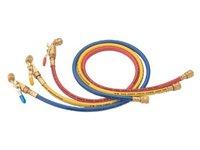 Wąż serwisowy 150cm, napełniający do klimatyzacji z zaworem kulowym - zdjęcie