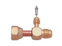 Zawór serwisowy, adapter CH-689-04 x 08 1/4' M. x (1/2' M. x 1/2' F.) SAE - zdjęcie