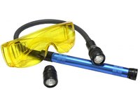 Zestaw do wykrywania nieszczelności, lampa UV, latarka + giętki przewód - zdjęcie