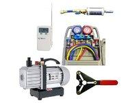 Zestaw narzędzi do napełniania i serwisowania klimatyzacji samochodowej - zdjęcie