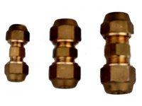 """Złączka 1/2"""" do łączenia dwóch odcinków rury miedzianej z narzutkami  1/2"""" (12mm) - zdjęcie"""