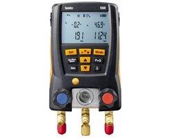 Elektroniczna oprawa zaworowa Testo 550 Bluetooth, manometry elektroniczne do chłodnictwa, klimatyzacji i pomp ciepła - zdjęcie
