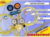 Zestaw azotowy do sprawdzania szczelności z manometrami elektronicznymi - zdjęcie