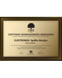 Certyfikat Wiarygodności Biznesowej 2011 - zdjęcie