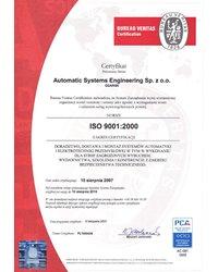 Certyfikowany system zapewnienia jakości ISO 9001 w firmie ASE - zdjęcie