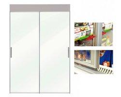 Drzwi przesuwne - zamykanie grawitacyjne - zdjęcie
