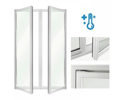Drzwi uchylne w ramie aluminiowej DF-CC - zdjęcie