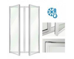 Drzwi uchylne w ramie aluminiowej DF-CM - zdjęcie