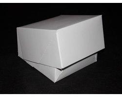Pudełko białe na ciastko/pączek/figurkę - zdjęcie