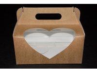 Pudełka koszyczki+okienko serce - zdjęcie