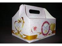 Pudełko na ciasto weselne - zdjęcie