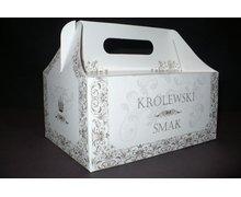 Pudełko na ciasto oklicznościowe 'Królewski Smak' - zdjęcie