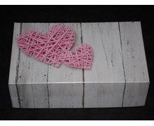 Pudełko na ciasto Serca plecione rozm.25x15x8 - zdjęcie
